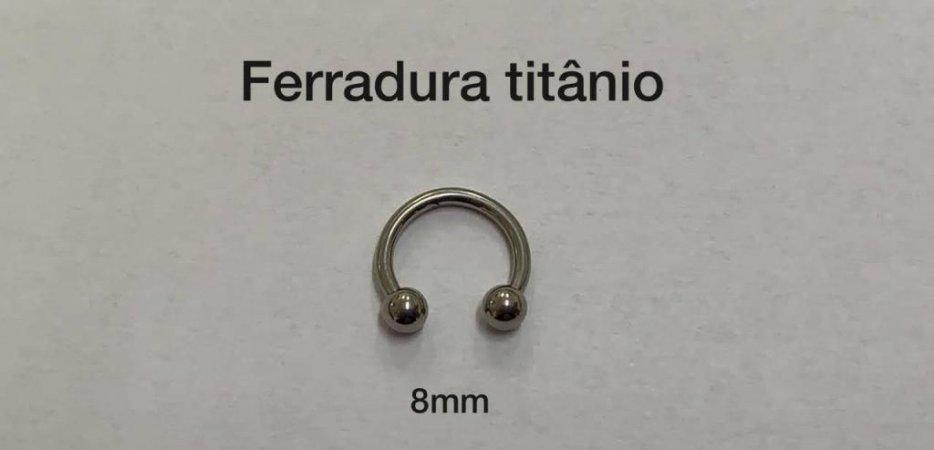 ferradura titânio 8mm