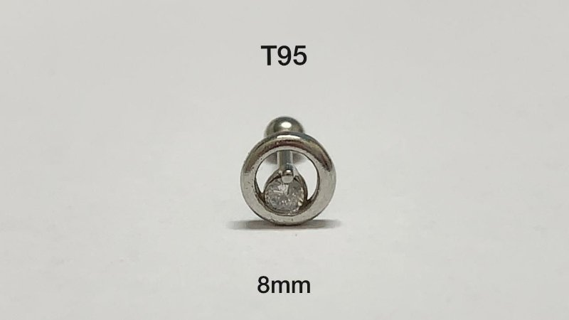 tragus folheado 8mm