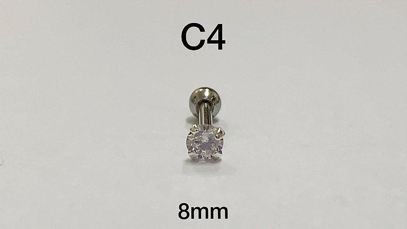 ponto de luz em prata 925 8mm