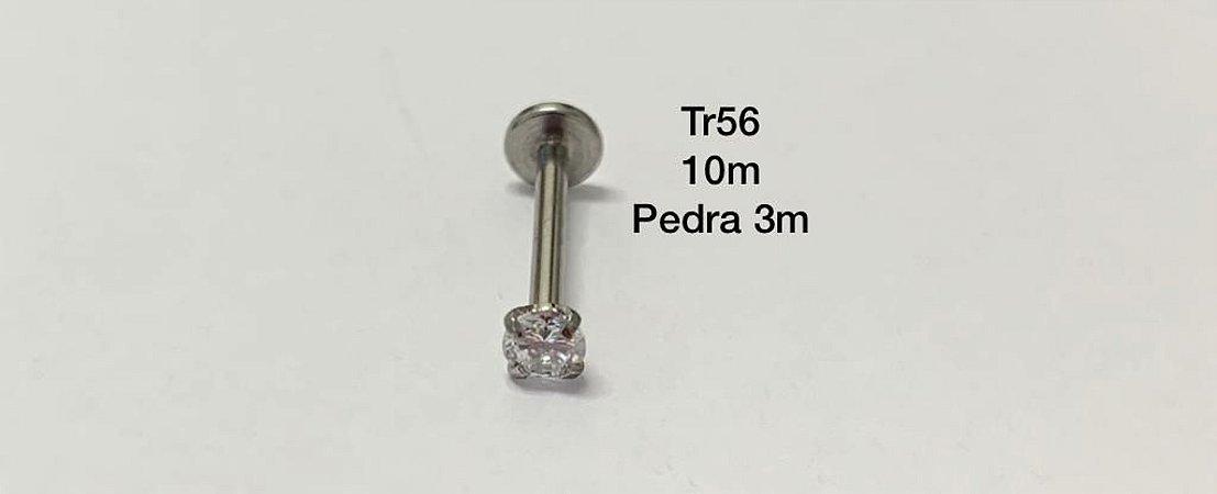 labret com rosca interna haste 10mm pedra 3mm