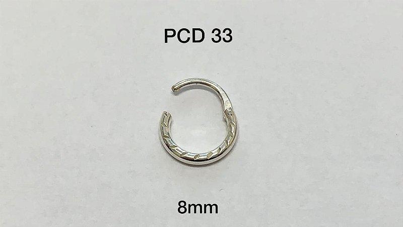 segmento em prata articulado 8mm