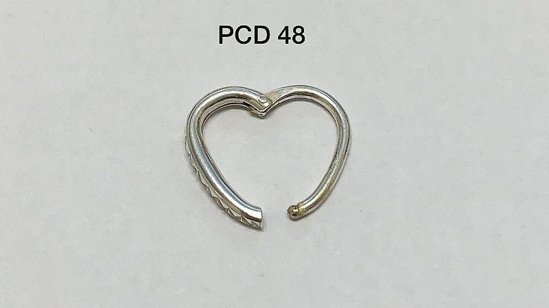 segmento em prata articulado coração