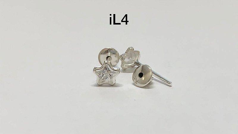 Brinco em prata 925 (tarraxa baby)
