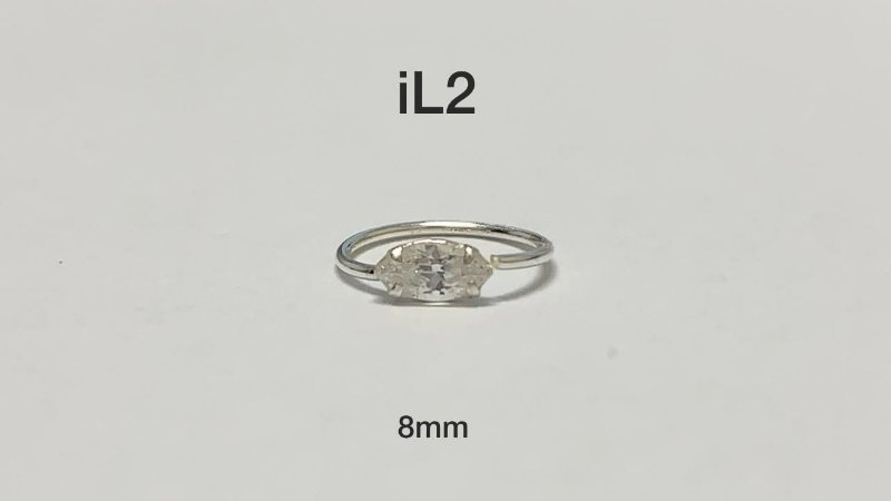 argola em prata 925 (navete) 8mm
