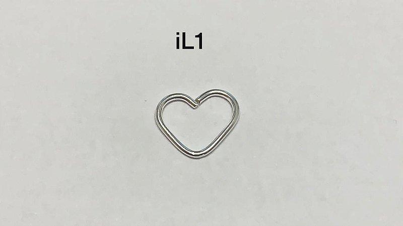 coraçao liso em prata 925