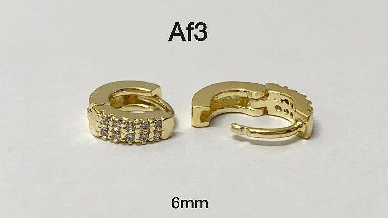 argola cliker folheado dourado 6mm