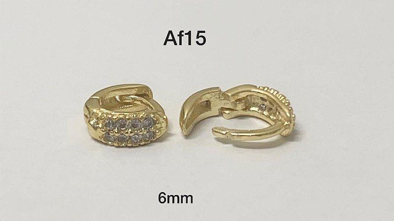 argola cliker folheado dourado 10mm