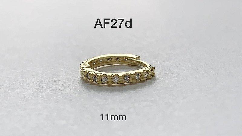 argola cliker folheado dourado 11mm