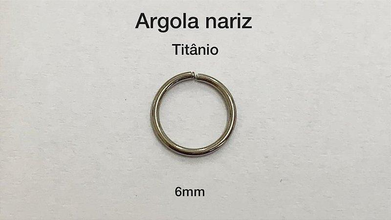 argola nariz titânio 6mm
