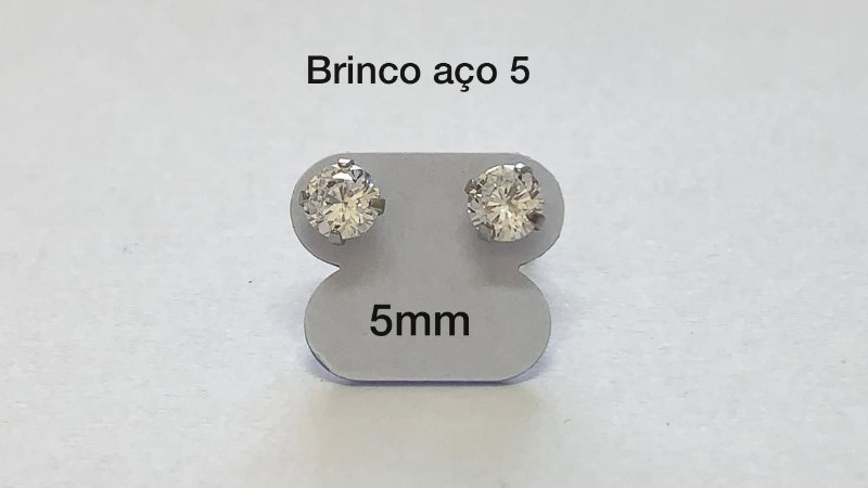 brinco aço par (5) 5mm