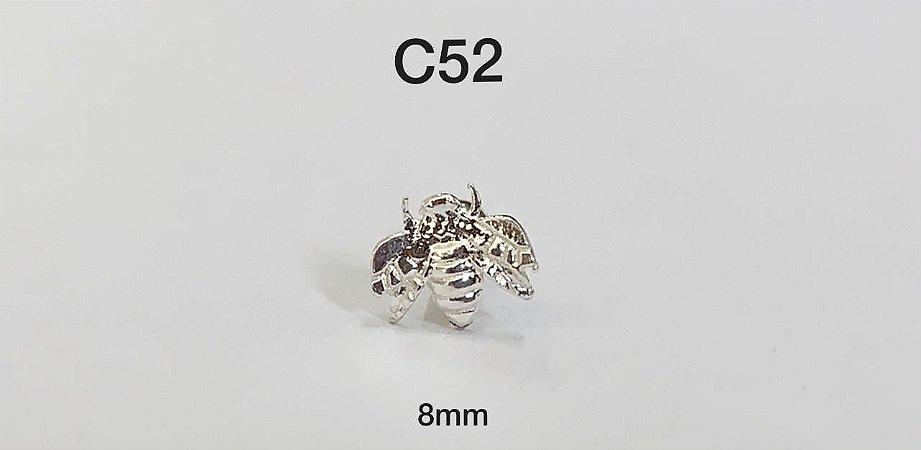 Tragus abelha prata 925 8mm