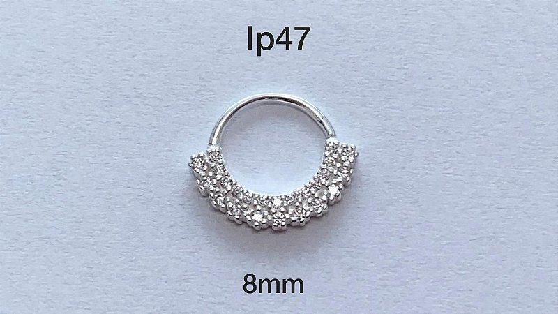 Argola em prata 925 8mm