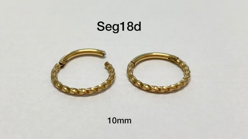 Segmento náutico dourado 10mm