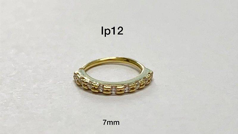 Argola em dourada em prata 925 7mm