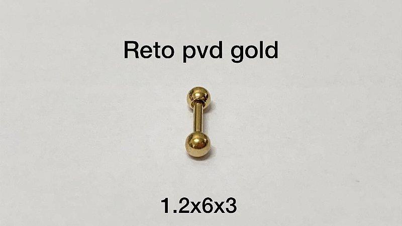 Reto pvd gold 6mm