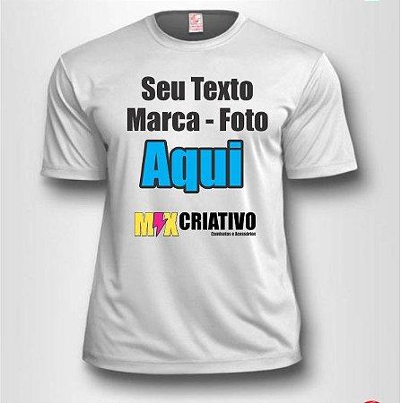 Camiseta Branca 100% Poliéster Personalize do seu jeito!!!