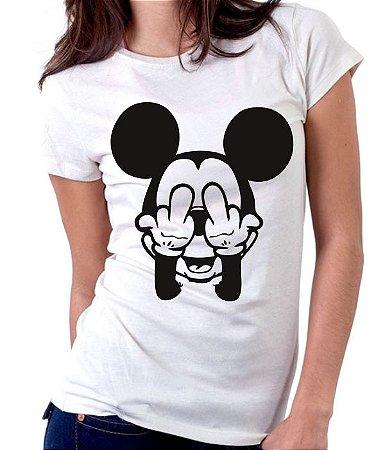 Camiseta Mickey Mal Educado  - 100% Algodao