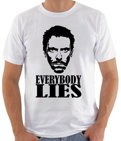 Camiseta House Everybody Lies - 100% Algodao