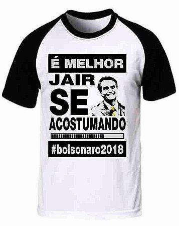 Camiseta Raglan Jair Bolsonaro (modelo 05)