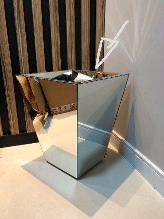 Vaso Cachepot Trapezio Revestido em Espelho