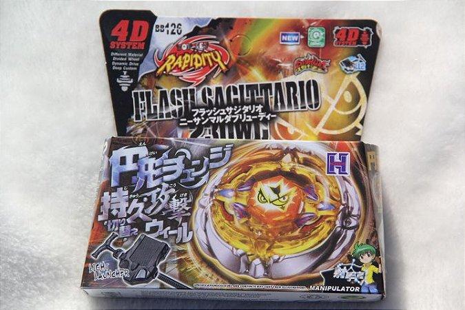 Beyblade Metal Fusion 4D - Flash Sagittario (BB126) Original Rapidity