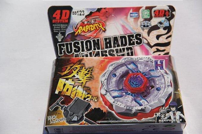 Beyblade Metal Fusion 4D - Fusion Hades (BB123) Original Rapidity