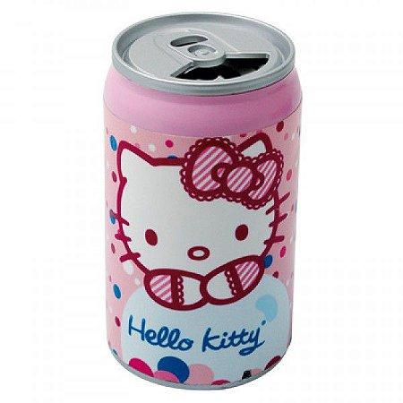Mini Caixa de Som Estéreo Portátil em forma de Latinha - Hello Kitty