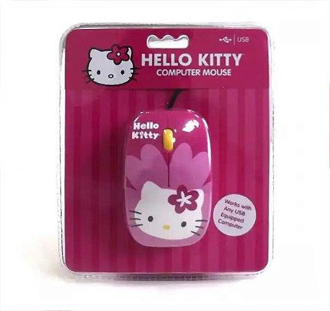 Mouse Óptico Usb Da Hello Kitty, Cor Rosa