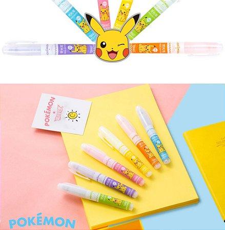 Canetinha, Marcador Colorido 6 Cores, Pokemon Pikachú