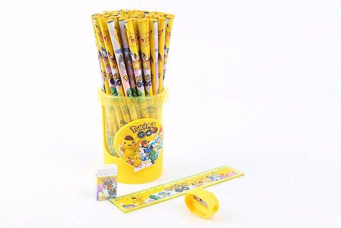 Kit Escolar Detetive Pikachú, Porta-Lápis