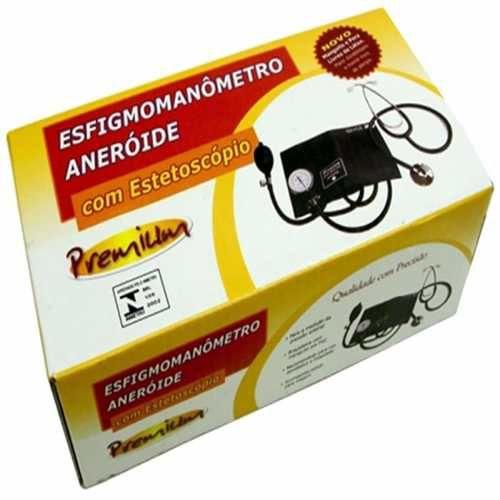 Esfigmomanômetro com esteto simples Premium