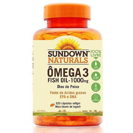 Ômega 3 Fish Oil 1000mg (Óleo de Peixe) 320 Cápsulas - Sundown
