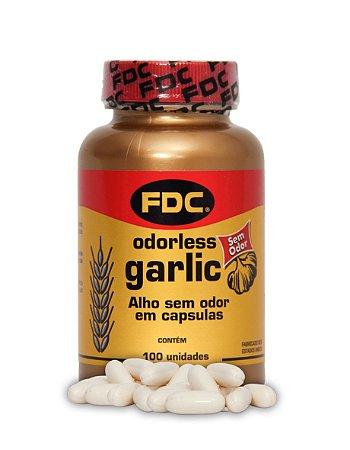 Odorless Garlic (Alho Desodorizado) 100 Cápsulas - FDC