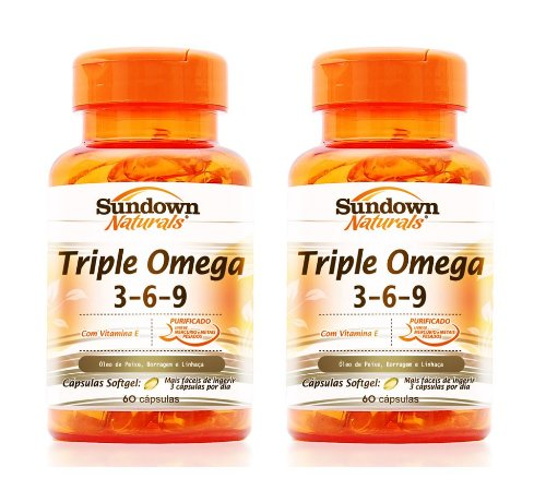COMBO - 2x Triple (Omega 3-6-9) 60 Cápsulas - Sundown