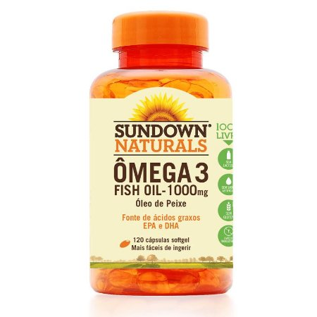 Ômega 3 Fish Oil 1000mg (Óleo de Peixe) 120 Cápsulas - Sundown