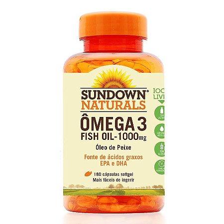 Ômega 3 Fish Oil 1000mg (Óleo de Peixe) 180 Cápsulas - Sundown
