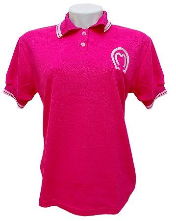 Camisa Polo Feminina Mangalarga Marchador Rosa