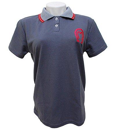 Camisa Polo Feminina Mangalarga Marchador Cinza
