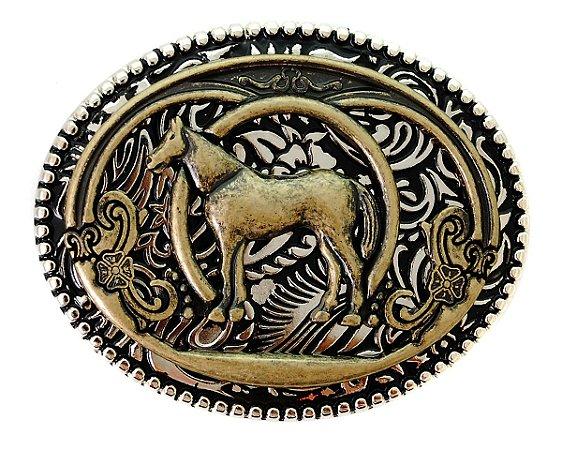 Fivela Country Cavalo Bronze