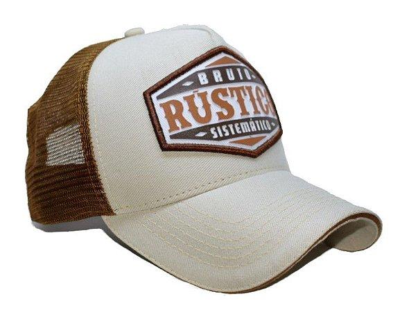 Boné Country Texas FARM Bruto Rústico e Sistemático Branco - Selaria ... ce529625f2f