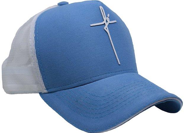 Boné Trucker Azul Fé