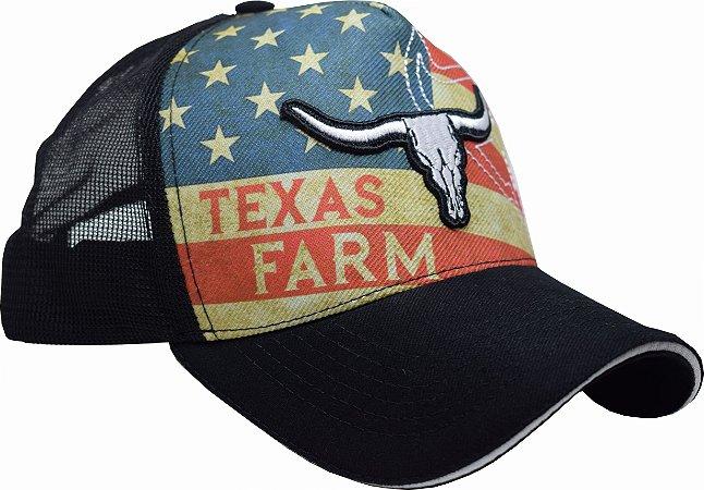 Boné Country Texas Farm  América