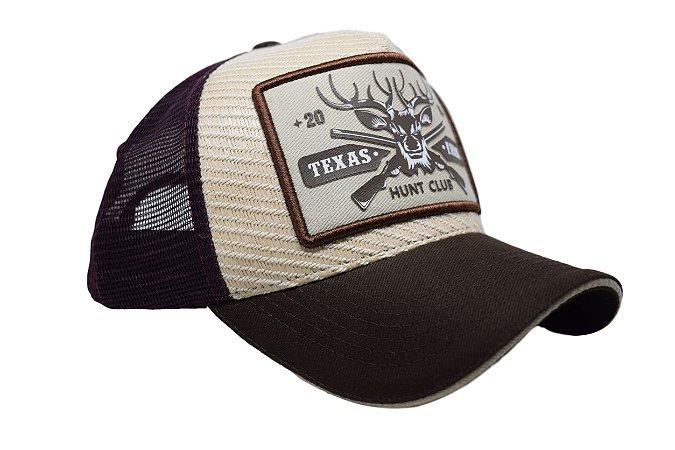 Boné Country Texas Farm Hunt Club Marrom