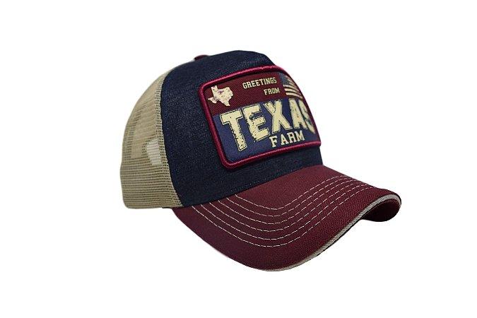 Boné Country Texas Farm  Tricolor Jeans