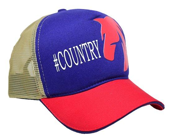 Boné #Country  Tricolor