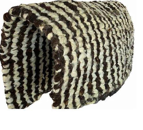 Baixeiro de Lã de Carneiro Trançado