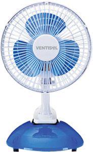 Ventilador Mini De Mesa 2 Em 1 - 20cm Branco Com Azul 110v