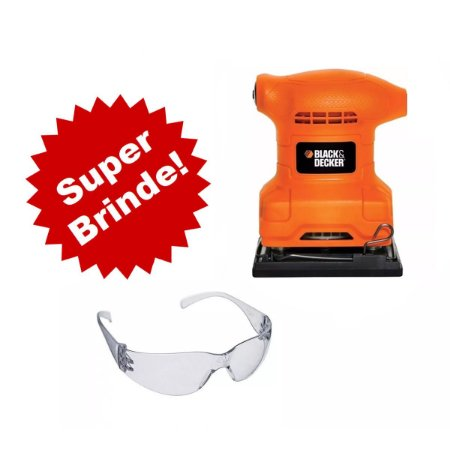 Lixadeira Orbital 1/4 De Lixa 200w - Bs200 Black & Deckee + Oculos