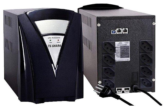 No Break Tshara Ts1000 Full Preto Com 2 Baterias Seladas 360 Autonomia 1 hora