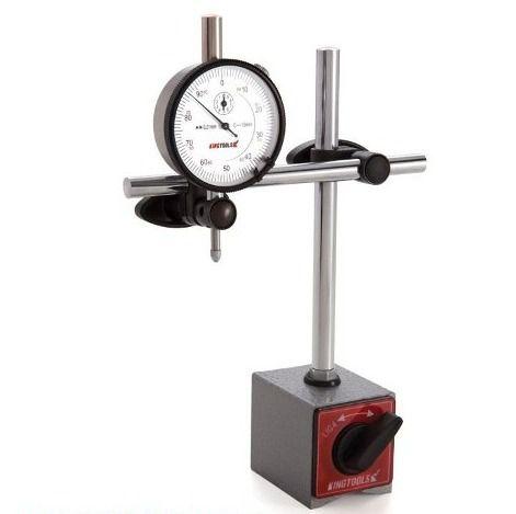 Base Magnética 60kgf Articulada + Relógio Comparador